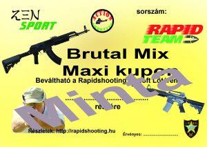 Élménylövészet Brutal Mix Maxi kupon