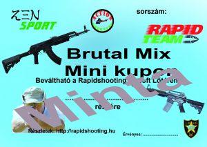 Élménylövészet Brutal Mix Mini kupon