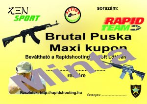 Élménylövészet Brutal Puska Maxi kupon