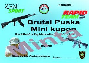 Élménylövészet Brutal Puska Mini kupon