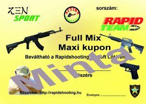 Élménylövészet Full Mix Maxi kupon minta
