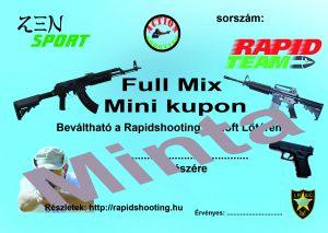 Élménylövészet Full Mix Mini kupon