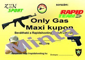 Élménylövészet Only Gas Maxi kupon