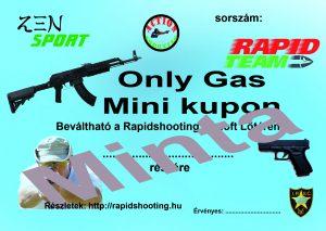 Élménylövészet Only Gas Mini kupon