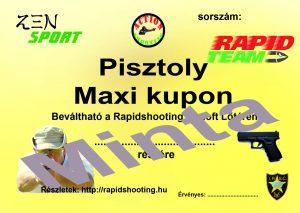 Élménylövészet Pisztoly Maxi kupon