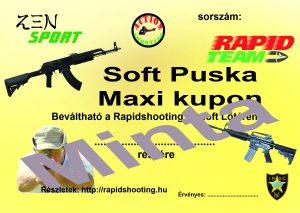 Élménylövészet Soft Puska Maxi kupon