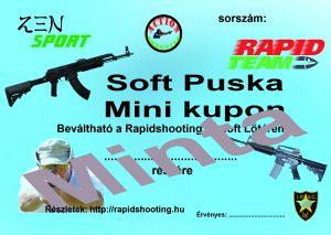 Élménylövészet Soft Puska Mini kupon